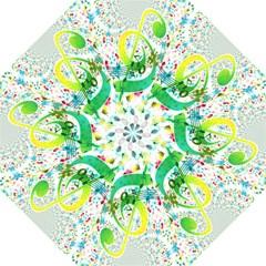 Points Circle Music Pattern Hook Handle Umbrellas (medium) by Nexatart