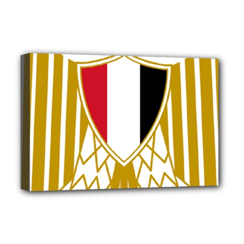 Coat Of Arms Of Egypt Deluxe Canvas 18  X 12   by abbeyz71
