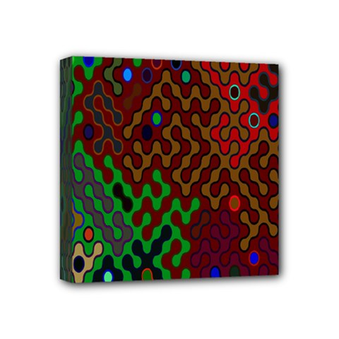 Psychedelic Abstract Swirl Mini Canvas 4  X 4  by Nexatart