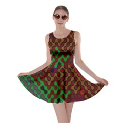 Psychedelic Abstract Swirl Skater Dress