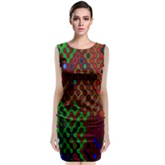 Psychedelic Abstract Swirl Classic Sleeveless Midi Dress