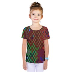 Psychedelic Abstract Swirl Kids  One Piece Tee