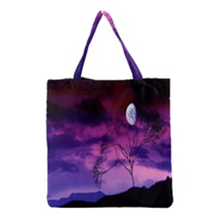 Purple Sky Grocery Tote Bag