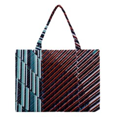 Red And Black High Rise Building Medium Tote Bag by Nexatart