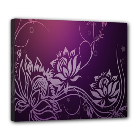 Purple Lotus Deluxe Canvas 24  X 20