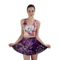 Purple Lotus Mini Skirt