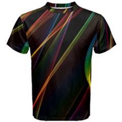 Rainbow Ribbons Men s Cotton Tee by Nexatart