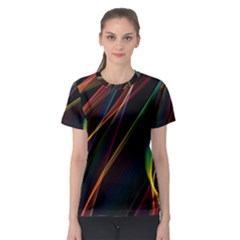 Rainbow Ribbons Women s Sport Mesh Tee by Nexatart