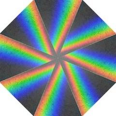 Rainbow Color Spectrum Solar Mirror Hook Handle Umbrellas (large)