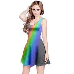 Rainbow Color Spectrum Solar Mirror Reversible Sleeveless Dress