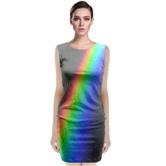 Rainbow Color Spectrum Solar Mirror Classic Sleeveless Midi Dress