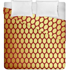 Red And Gold Effect Backing Paper Duvet Cover Double Side (King Size) by Nexatart
