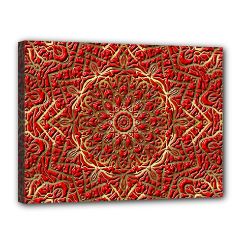 Red Tile Background Image Pattern Canvas 16  X 12