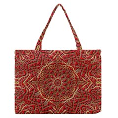Red Tile Background Image Pattern Medium Zipper Tote Bag