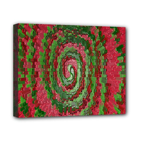 Red Green Swirl Twirl Colorful Canvas 10  X 8