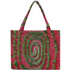 Red Green Swirl Twirl Colorful Mini Tote Bag by Nexatart