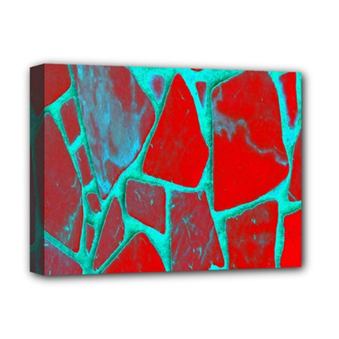 Red Marble Background Deluxe Canvas 16  X 12   by Nexatart