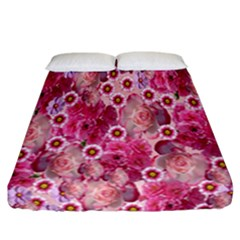 Roses Flowers Rose Blooms Nature Fitted Sheet (california King Size)
