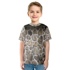 Roof Tile Damme Wall Stone Kids  Sport Mesh Tee