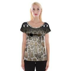 Roof Tile Damme Wall Stone Women s Cap Sleeve Top by Nexatart