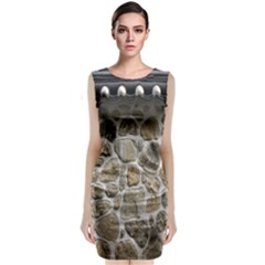 Roof Tile Damme Wall Stone Classic Sleeveless Midi Dress