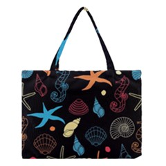 Seahorse Starfish Seashell Shell Medium Tote Bag