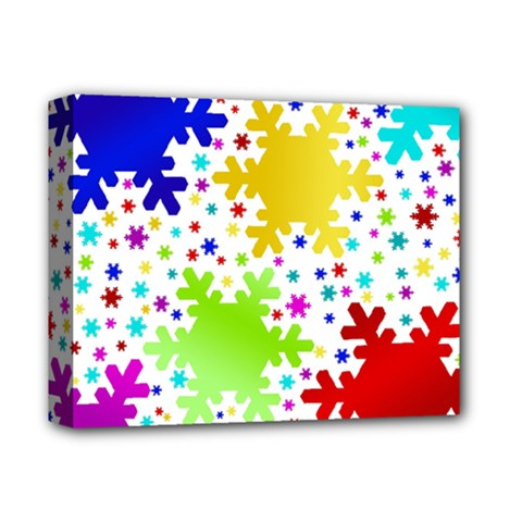 Seamless Snowflake Pattern Deluxe Canvas 14  X 11