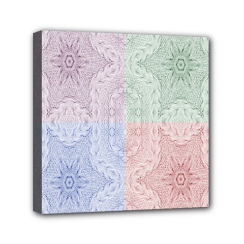 Seamless Kaleidoscope Patterns In Different Colors Based On Real Knitting Pattern Mini Canvas 6  X 6