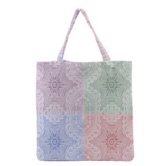 Seamless Kaleidoscope Patterns In Different Colors Based On Real Knitting Pattern Grocery Tote Bag