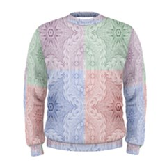 Seamless Kaleidoscope Patterns In Different Colors Based On Real Knitting Pattern Men s Sweatshirt