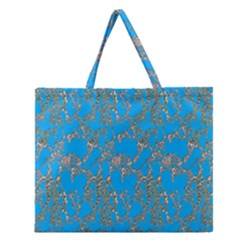 Seamless Pattern Background Seamless Zipper Large Tote Bag by Nexatart