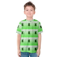 Shamrock Pattern Kids  Cotton Tee