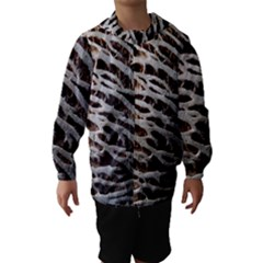Seed Worn Lines Close Macro Hooded Wind Breaker (Kids) by Nexatart