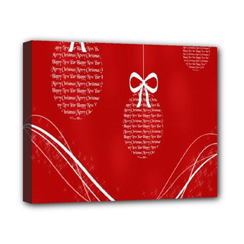 Simple Merry Christmas Canvas 10  X 8  by Nexatart