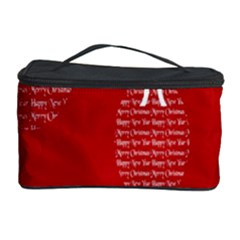Simple Merry Christmas Cosmetic Storage Case by Nexatart