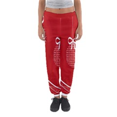 Simple Merry Christmas Women s Jogger Sweatpants