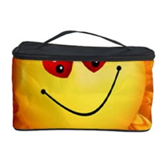 Smiley Joy Heart Love Smile Cosmetic Storage Case by Nexatart