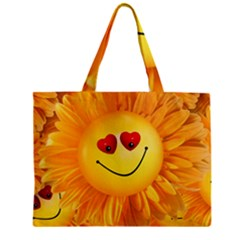Smiley Joy Heart Love Smile Zipper Mini Tote Bag by Nexatart