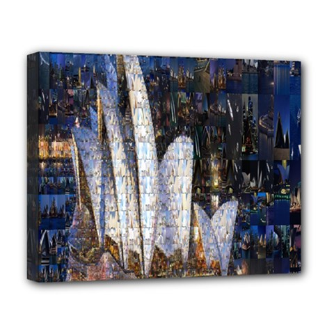 Sidney Travel Wallpaper Deluxe Canvas 20  X 16   by Nexatart
