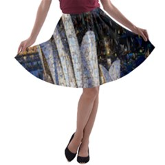 Sidney Travel Wallpaper A-line Skater Skirt by Nexatart