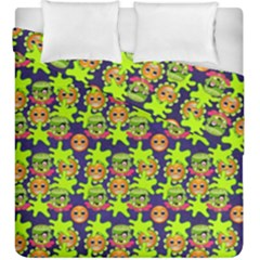 Smiley Background Smiley Grunge Duvet Cover Double Side (king Size) by Nexatart