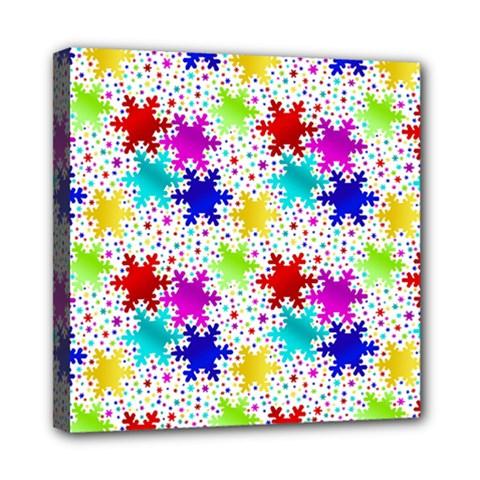 Snowflake Pattern Repeated Mini Canvas 8  X 8