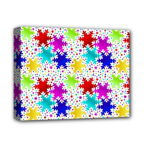 Snowflake Pattern Repeated Deluxe Canvas 14  X 11  by Nexatart