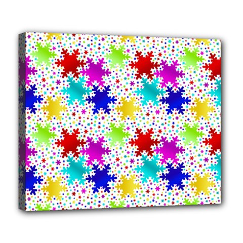 Snowflake Pattern Repeated Deluxe Canvas 24  X 20