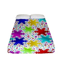 Snowflake Pattern Repeated Fitted Sheet (full/ Double Size)