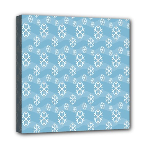 Snowflakes Winter Christmas Mini Canvas 8  X 8