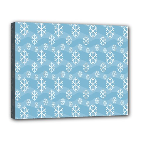 Snowflakes Winter Christmas Canvas 14  X 11