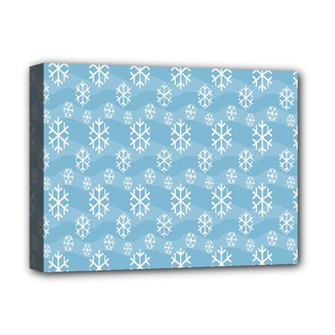 Snowflakes Winter Christmas Deluxe Canvas 16  X 12   by Nexatart