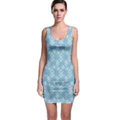 Snowflakes Winter Christmas Sleeveless Bodycon Dress