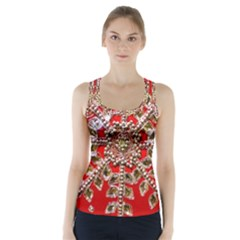 Snowflake Jeweled Racer Back Sports Top